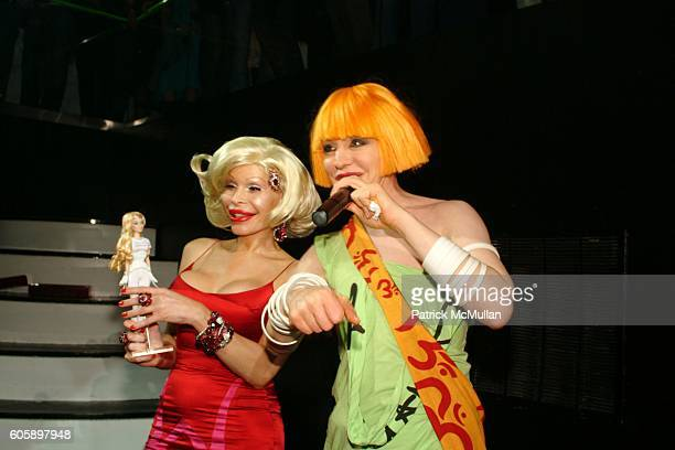 Amanda Lepore and Kenny Kenny attend AMANDA LEPORE DOLL After Party at Happy Valley on April 11 2006 in New York City