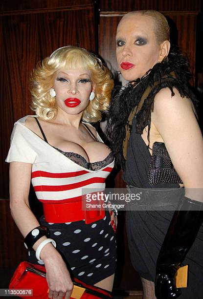 Amanda Lepore and Kenny Kenny during The Launch Of La Dolce Eve Kitten Doll Hosted By Amanda Lepore February 20 2007 at Room Service in New York City...