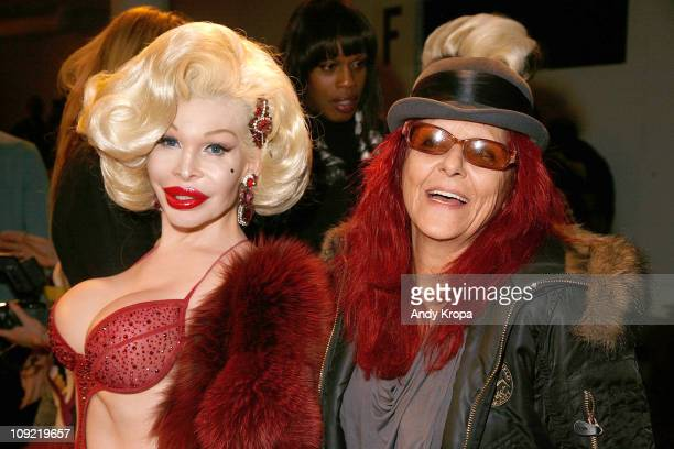 Amanda Lepore and Patricia Field attend The Blonds Fall 2011 fashion show during MercedesBenz Fashion Week at Milk Studios on February 16 2011 in New...