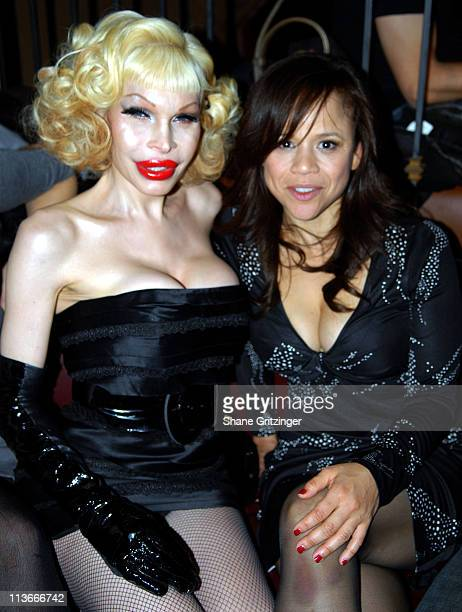 Amanda Lepore and Rosie Perez during Rosie Perez Hosts the Launch of Michael Musto's New Book 'La Dolce Musto' at Roomservice January 9 2007 at...