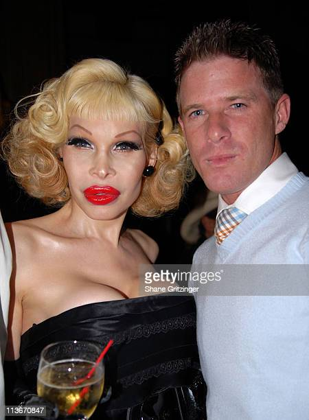 Amanda Lepore and Shane O'Neal during Rosie Perez Hosts the Launch of Michael Musto's New Book 'La Dolce Musto' at Roomservice January 9 2007 at...