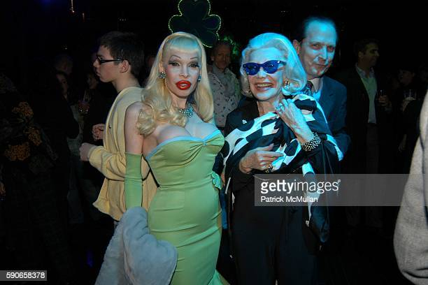 Amanda Lepore Anne Slater and John Cahill attend Patrick McMullan's Annual St Patricks Day Party Hosted by Gotham Magazine Sponsored by Intrigue The...