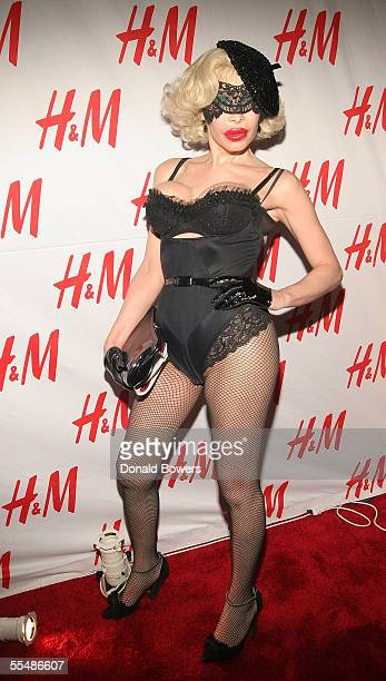 Amanda Lepore arrives at the 'Denim' party HM's new collection launch party at the Splashlight Studios on September 14 2005 in New York City