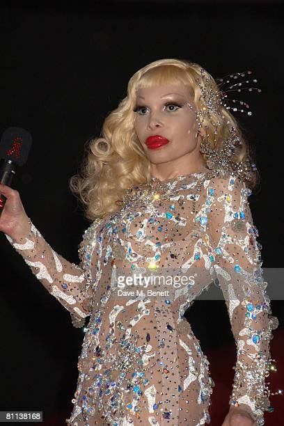 Amanda Lepore arrives at the Life Ball 2008 Europe's largest Gala againts HIV and aids held at the Town Hall Square on May 17 2008 in London England