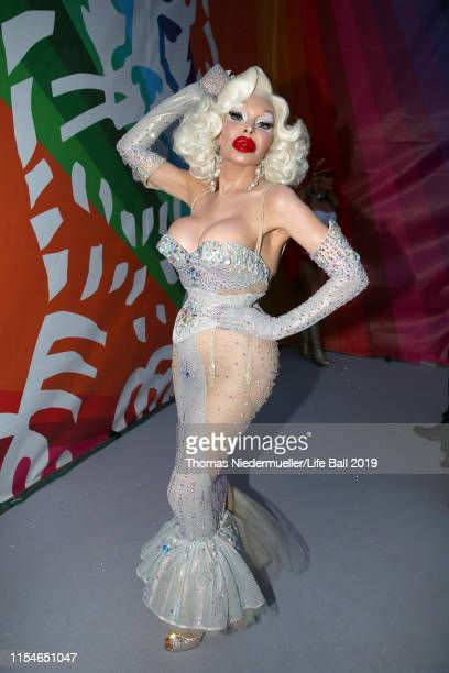 Amanda Lepore arrives for the Life Ball 2019 at City Hall on June 08, 2019 in Vienna, Austria. After 26 years the charity event Life Ball will take...
