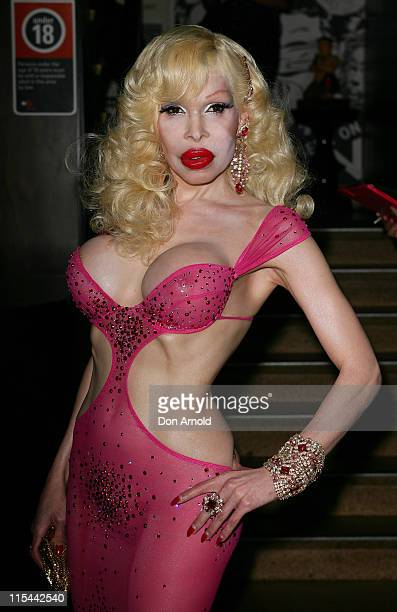Amanda Lepore attends a media call ahead of Saturday's Mardi Gras Party at Kit & Kaboodle on March 4, 2010 in Sydney, Australia.