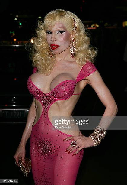 Amanda Lepore attends a media call ahead of Saturday's Mardi Gras Party at Kit Kaboodle on March 4 2010 in Sydney Australia