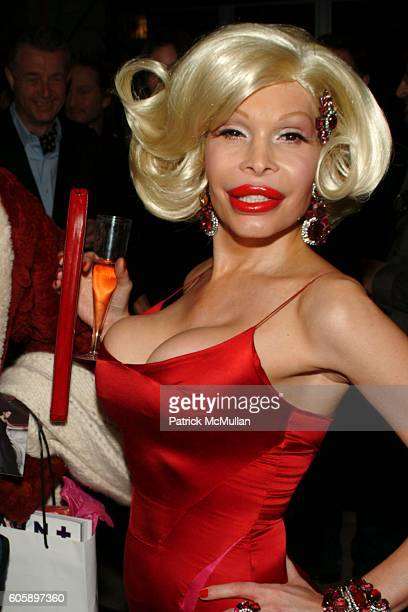 Amanda Lepore attends AMANDA LEPORE DOLL cocktail party at Jeffrey on April 11 2006 in New York City