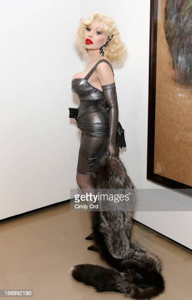 Amanda Lepore attends David LaChapelle's opening of 'Still Life' at Paul Kasmin Gallery on November 26 2012 in New York City