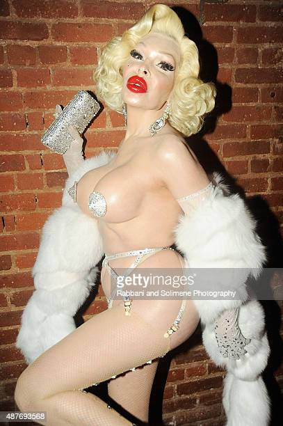 Amanda Lepore attends Gloss The Work Of Chris Von Wangenheim Book Launch Party at The Tunnel on September 10 2015 in New York City