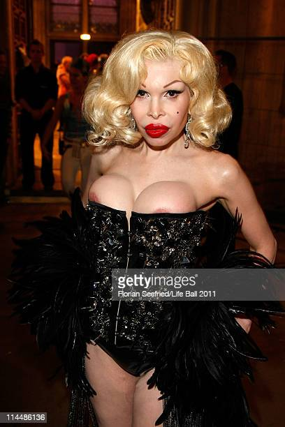 Amanda Lepore attends the 19th Life Ball backstage at the Town Hall on May 21 2011 in Vienna Austria
