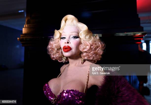 Amanda Lepore attends the Adrienne Landau presentation during New York Fashion Week on February 14 2017 in New York City