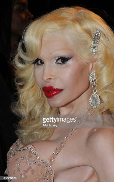 Amanda Lepore attends the A*Muse fashion show at Amnesia NYC on February 17 2010 in New York City