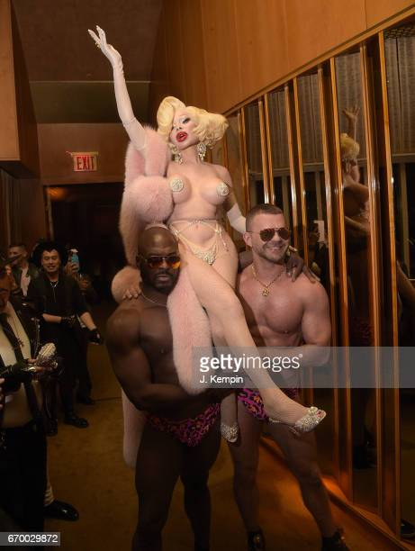 Amanda Lepore attends the Doll Parts book launch party at The Standard Highline on April 18 2017 in New York City