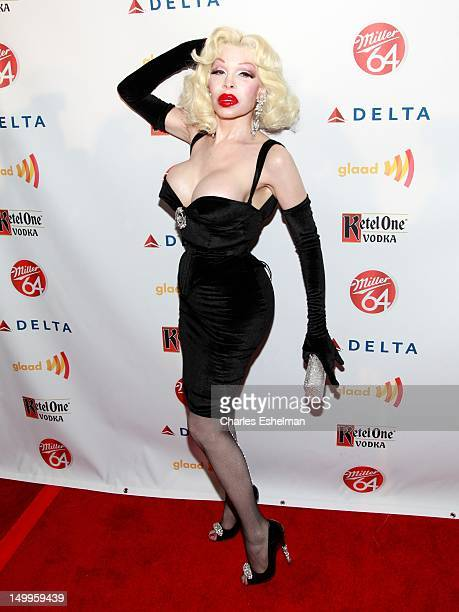 Amanda Lepore attends the GLAAD Manhattan 2012 Casino Night benefit at Humphrey at the Eventi Hotel on August 7 2012 in New York City