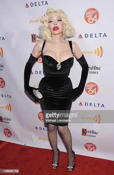 Amanda Lepore attends the GLAAD Manhattan Summer Event at Humphrey at the Eventi Hotel on August 7 2012 in New York City
