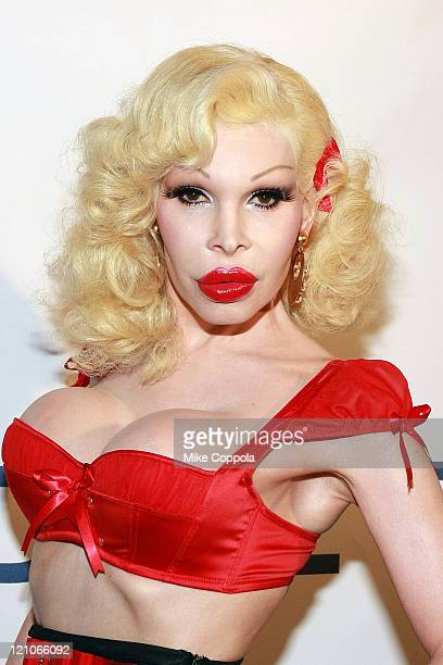 Amanda Lepore attends the GLAAD Manhattan summer rooftop event at 230 Fifth Avenue on August 25 2009 in New York City