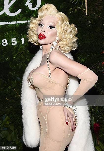 Amanda Lepore attends the Kiehl's Pure Vitality Launch Party at Bleecker Event Hall on January 5 2017 in New York City