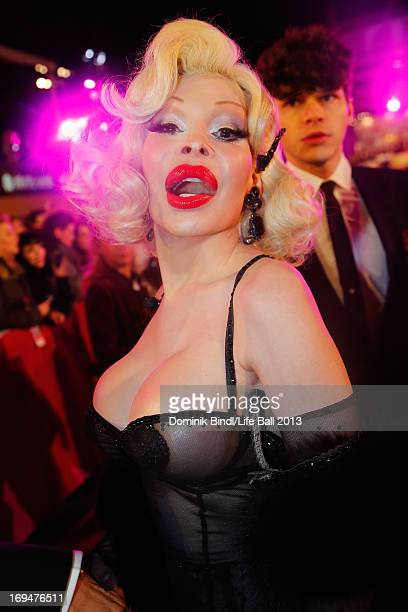 Amanda Lepore attends the 'Life Ball 2013 Magenta Carpet Arrivals' at City Hall on May 25 2013 in Vienna Austria