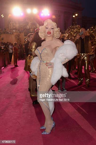 Amanda Lepore attends the Life Ball 2015 at City Hall on May 16 2015 in Vienna Austria