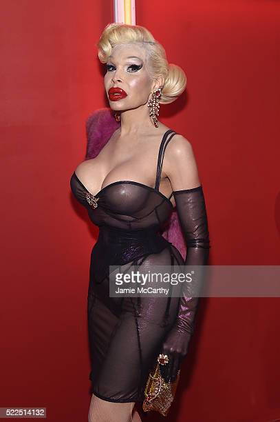 Amanda Lepore attends the Marc Jacobs Eyewear launch of #MJscreamteam celebrating the Spring 2016 Collection on April 19 2016 in New York City