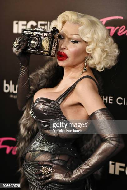 Amanda Lepore attends the premiere of IFC Films' 'Freak Show' hosted by The Cinema Society at Landmark Sunshine Cinema on January 10 2018 in New York...