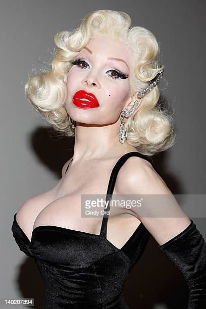 Amanda Lepore attends the second evening of the Whitney Biennial 2012 opening party at The Whitney Museum of American Art on February 29 2012 in New...