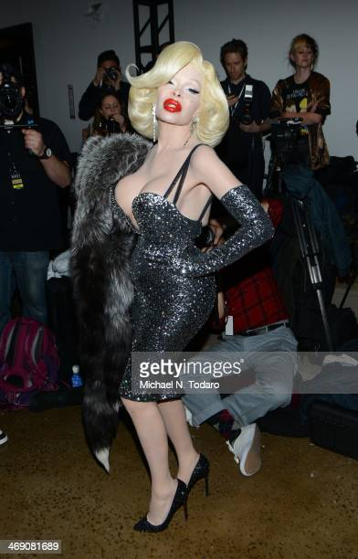 Amanda Lepore attends the The Blonds Show during MADE Fashion Week Fall 2014 at Milk Studios on February 12 2014 in New York City