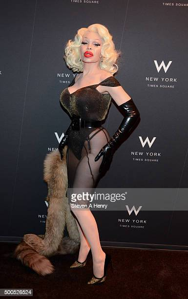 Amanda Lepore attends the 'Ultimate Encore' New York Premiere at the W New York on December 8 2015 in New York City