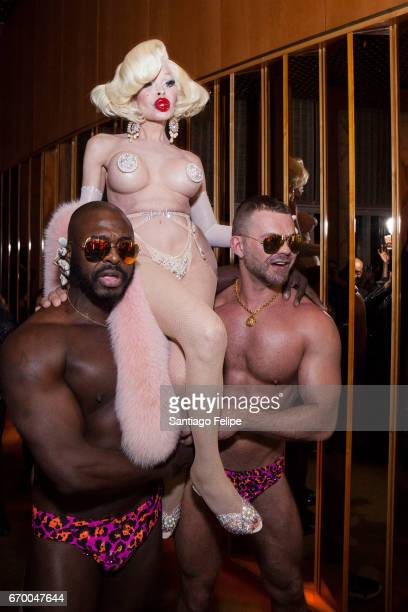 Amanda Lepore celebrates her book launch with a after party at the Boom Boom Room on April 18 2017 in New York City