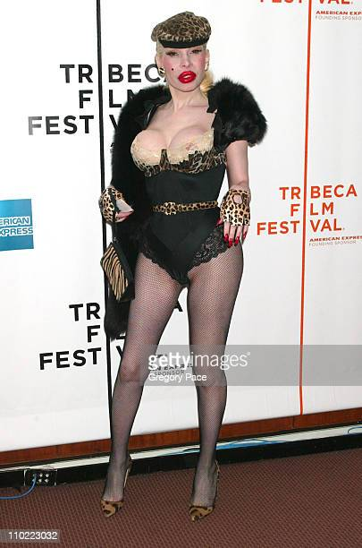 Amanda Lepore during 4th Annual Tribeca Film Festival 'Rize' Arrivals at Pace Schimmel Center in New York City New York United States