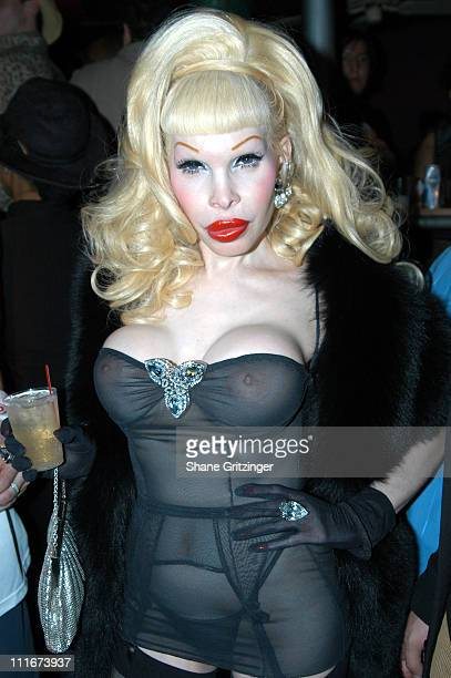 Amanda Lepore during A Heatherette Birthday Bash February 28 2004 at Luke and Leroy in New York City New York United States