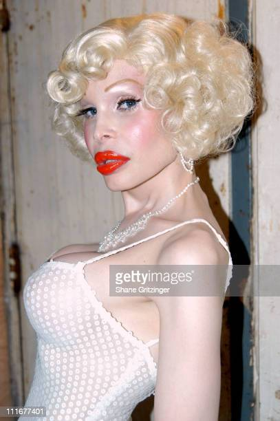 Amanda LePore during Amanda LePore Hosts Cazwell's Birthday Party and Go Go Idol Competition at BoysRoom in New York City New York United States