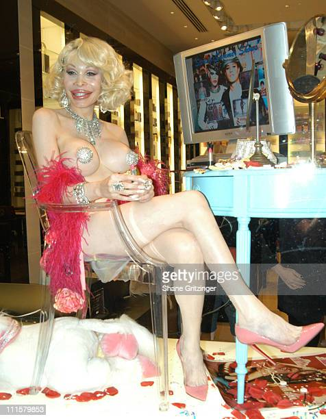 Amanda Lepore during Heatherette Exclusive Collection Debuts at Henri Bendel at Henri Bendel in New York New York United States