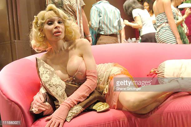 Amanda Lepore during Heatherette Exclusive Collection Debuts at Henri Bendel Night Two at Henri Bendel in New York City New York United States