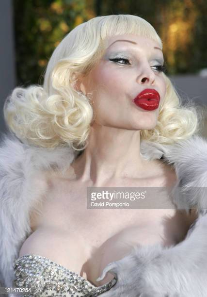 Amanda Lepore during HM Live From Central Park Arrivals and Cocktail Reception at Central Park in New York City New York United States