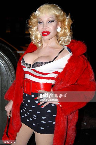 Amanda Lepore during The Launch Of La Dolce Eve Kitten Doll Hosted By Amanda Lepore February 20 2007 at Room Service in New York City New York United...