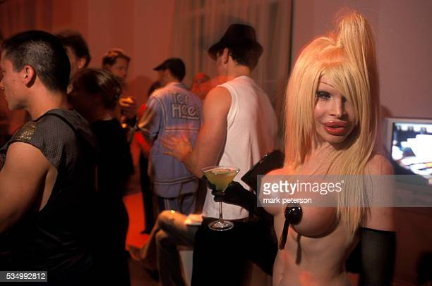 Amanda Lepore on opening night at photographer David LaChapelle's Art Meets Technology presented in cooperation with Phillips Consumer Elections and...