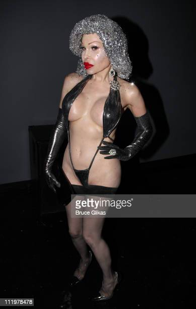Amanda Lepore poses at the new nightclub 'Club Rockit' at District 36 on April 10 2011 in New York City
