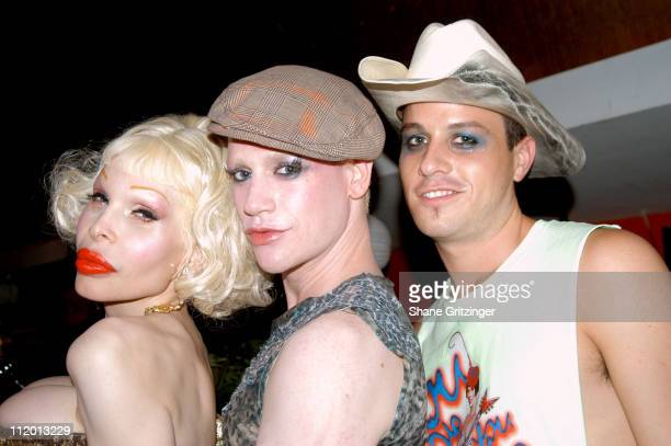 Amanda Lepore Richie Rich of and Traver Rains of Heatherette