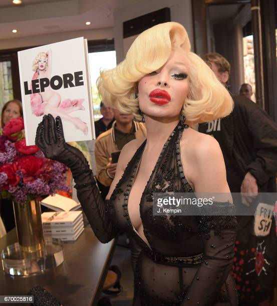 Amanda Lepore signs copies of her new book Doll Parts at BookMarc on April 18 2017 in New York City