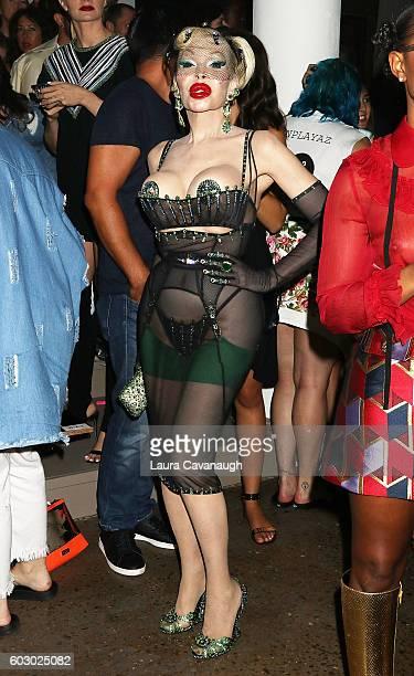 Amanda Lepore The Blonds September 2016 New York Fashion Week at Milk Studios on September 11 2016 in New York City