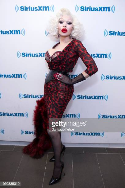 Amanda Lepore visits SiriusXM Studios on April 24 2018 in New York City