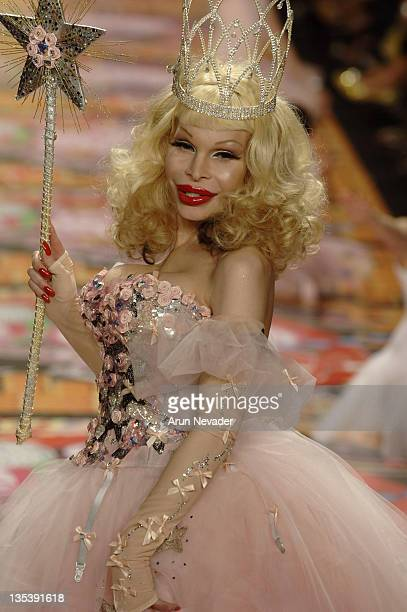 Amanda Lepore wearing Heatherette Fall 2007 during MercedesBenz Fashion Week Fall 2007 Heatherette Runway at The Tent Bryant Park in New York City...