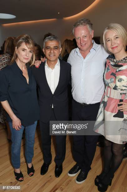 Amanda Levete Mayor of London Sadiq Khan Ben Evans and Justine Simons Deputy Mayor for Culture and the Creative Industries attend the Mayor of...