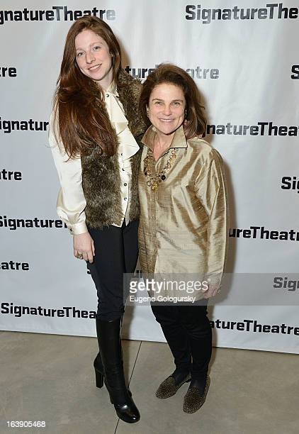 Amanda Levy and Tovah Feldsuh attend The Mound Builders Opening Night Party at Signature Theatre Company's The Pershing Square Signature Center on...