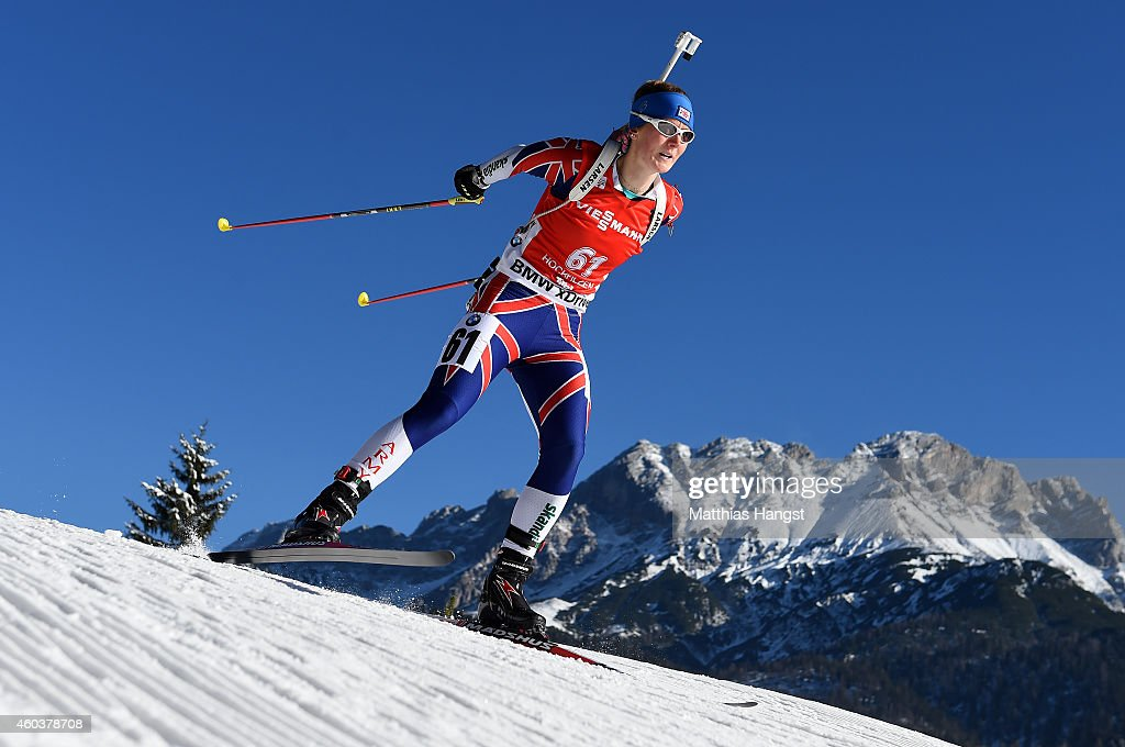 Amanda Lightfoot of Great Britain competes during the women's 7,5 km sprint event during the IBU Biathlon World Cup on December 12, 2014 in Hochfilzen, Austria.