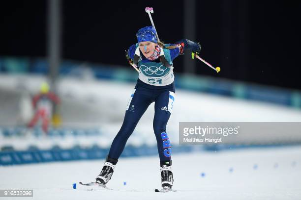 Amanda Lightfoot of Great Britain competes during the Women's Biathlon 75km Sprint on day one of the PyeongChang 2018 Winter Olympic Games at...