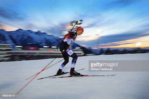Amanda Lightfoot of Great Britain competes in the Women's 15 km Individual during day seven of the Sochi 2014 Winter Olympics at Laura Cross-country...