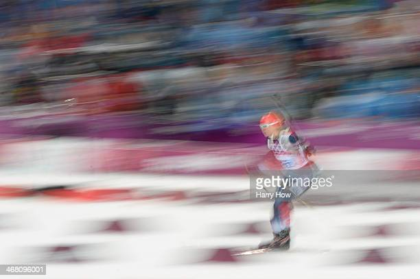 Amanda Lightfoot of Great Britain competes in the Women's 75 km Sprint during day two of the Sochi 2014 Winter Olympics at Laura Crosscountry Ski...